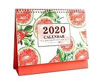 クリエイティブかわいいスタイル2020卓上カレンダー月次計画、10.04のx 7.08インチ[スイカ]