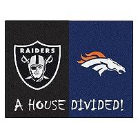 """Fanmats 20556NFLデンバー・ブロンコス––Raiders家Dividedラグ、チームカラー、33.75"""" x42.5"""""""