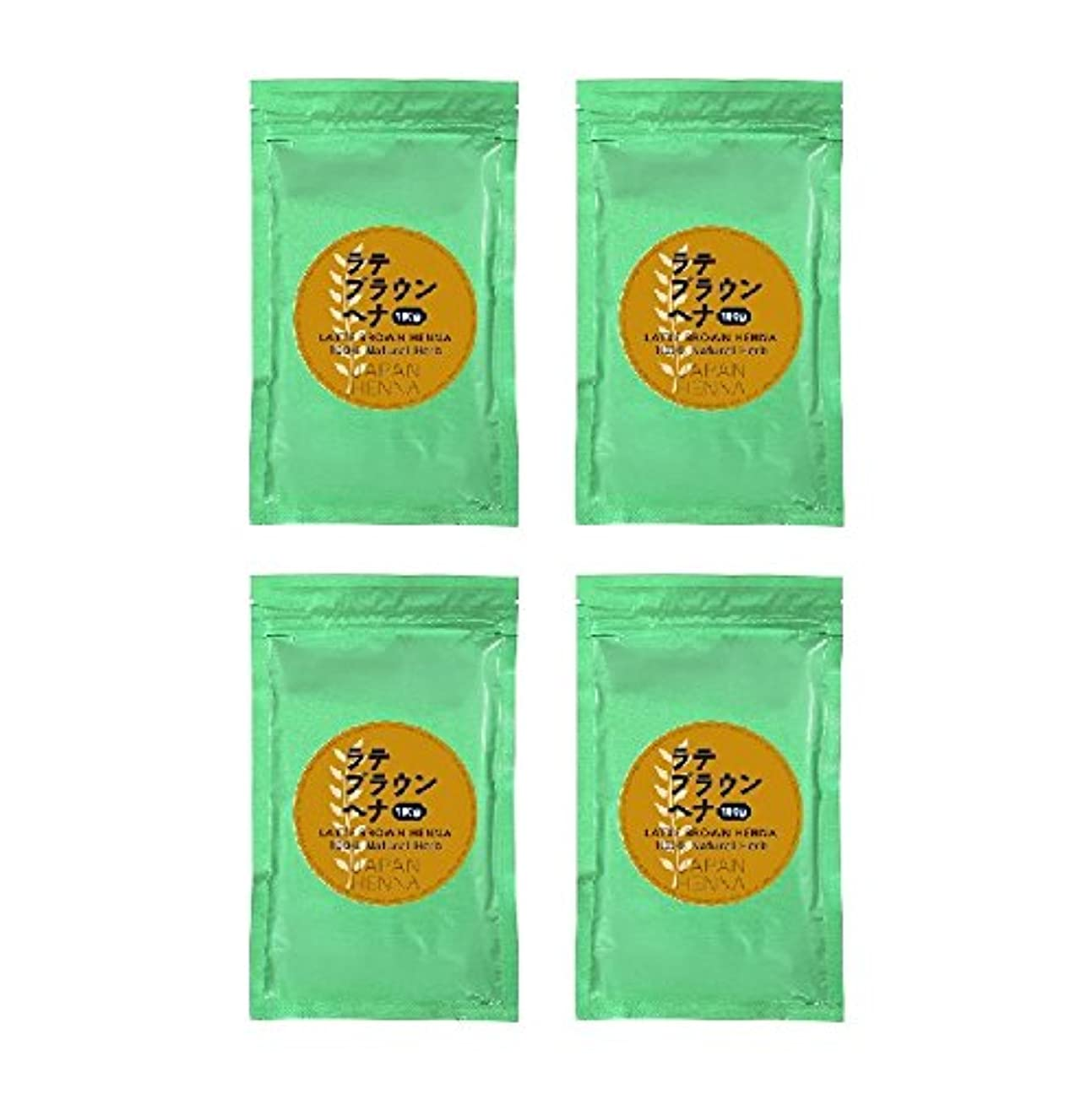 凝視関税関税【4個セット】 ジャパンヘナ 100g B-10 ラテブラウン ヘナカラー トリートメント