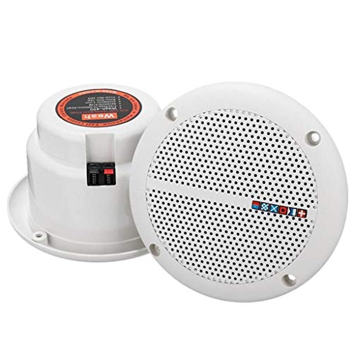 バー弁護調停するBaoblaze スピーカー 2ウェイ 防水 マリン/ボート/シーリング/キッチン/バスルームなど用 高音質 1ペア
