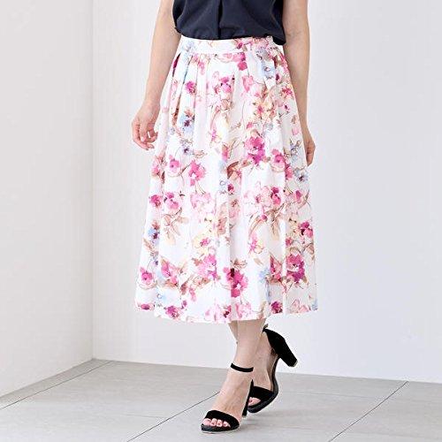 ミューズ リファインド クローズ(MEW'S REFINED CLOTHES) タイプライター花柄ミモレスカート