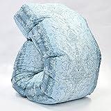 西川 羽毛布団 ホワイト ダック ダウン 90% 日本製 抗菌 防臭 AI938 (シングル:150×210cm, ブルー)