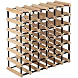 Artiss Wine Rack 42 Bottles Free Standing Wooden Wine Storage Display Shelf