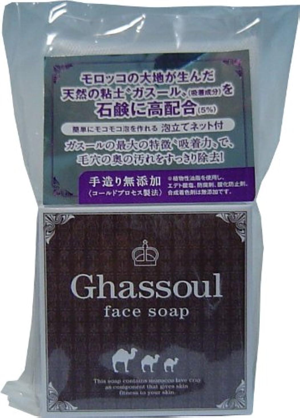 プランテーション取り壊す小間Ghassoul face soap ガスールフェイスソープ 100g ×10個セット