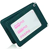 BLUE SINCERE 定期入れ パスケース 革 レザー メンズ バタフライ 二つ折り 5ポケット (アンティークグリーン)