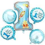 風船 サプライズ パーティー アルファベット シルバー 数字 子供 友達 お祝い 1歳 誕生日 飾り付け バースデー アルミ バルーン 豪華 装飾セット ヘリウムガス 対応