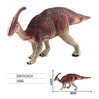 FairOnly 恐竜モデル 模型 プラスチック おもちゃ 動物認知 贈り物 装飾品 3歳以上 茶色がかった赤いParasaurolophus