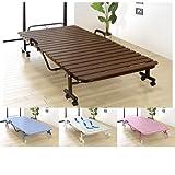折りたたみ樹脂すのこベッド 完成品 スノコベッド コンパクト 樹脂 シングル ブラウン SA707BR