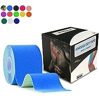 テーピングテープ キネシオ テープ 筋肉?関節をサポート 伸縮性強い 汗に強い パフォーマンスを高める 5cm×5m …