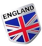 ユニオンジャック イギリス 国旗 アルミ製 立体 ステッカー UK 50 * 50 * 1