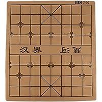 Fityle 持ち運び ポケット 折りたたみ式 スエードレザー チェス盤 全3サイズ - 60x54cm