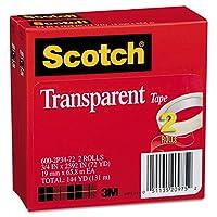 透明テープ6002p3472、3/ 4」「X 2592」、「3」「コア、透明、2/ Pack , Sold as 2ロール