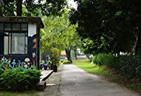 leowefowa 7x 5ftビニールバックドロップシン写真背景Modern City Green GrassフィールドシーンSweetベビーキッズPortrait Party Backdrop 2.2( W ) × 1.5( H ) Mフォトスタジオ小道具