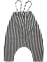 Goshang サロペット オールインワン ストライプ ベビー キッズ 男の子 女の子 子供 オーバーオール(服が付かない)