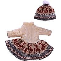 Lovoski  人形 かわいい ニット セーター  冬 ドレス 帽子 18インチアメリカンガールドール適用 装飾