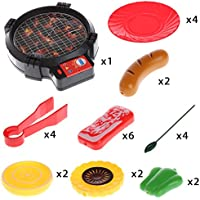 aisme Kid Pretend Play Barbecue Playsetシミュレーションキッチン電気BBQ Toy withライト子供教育おもちゃ