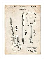 Telecasterギターポスター米国特許印刷18x 24フェンダーポスターヴィンテージReproductionギフト額なし