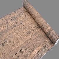 【ノーブランド品】 簡単 模様替え おしゃれ 木目風 壁紙シール 45cm幅 × 10m (アンティーク)