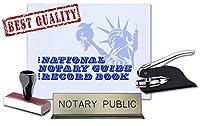 アイダホNotary PublicデスクSign、レコード本、ブラックポケットシールEmbosser、従来のゴム手スタンプ値パッケージ