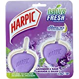 Harpic Active Fresh Hygienic Toilet Block Cleaner Lavender Twin Pack 2x 40g