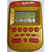 YAHTZEE Electronic Handheld Game RED/GOLD EDITION (Includes Instructions) [並行輸入品]