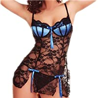 Ausexy Fashion Women Sexy Bow Lace Racy Underwear Spice Suit Temptation Underwear