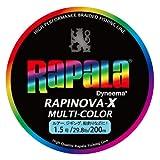 ラパラ(Rapala) PEライン ラピノヴァX マルチカラー 200m 1.5号 29.8lb 4本 マルチカラー RXC200M15MC