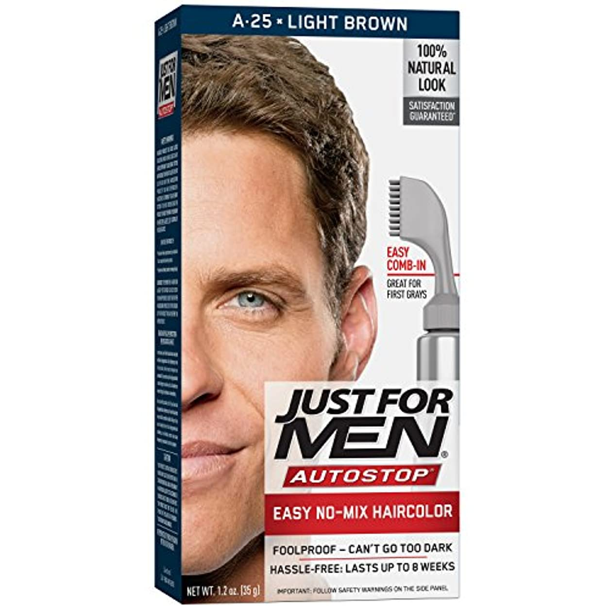 険しい星増強するJust For Men Autostop A25 Light Brown (Pack of 3) (並行輸入品)