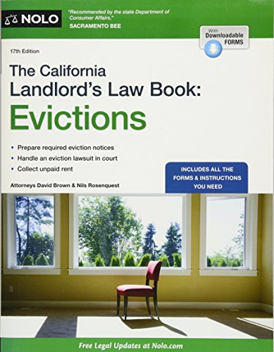 Download California Landlord's Law Book, The: Evictions (California Landlord's Law Book Vol 2 : Evictions) 1413323618
