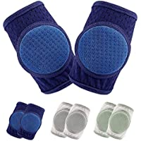 Baby Knee Pads for Crawling, Adjustable Anti Slip Breathable Protector for Toddler 3 Pairs