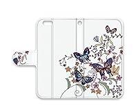 AQUOSPHONEZETA(SH-01F) 手帳型 手帳ケース 手帳カバー スマホ ケース スマホ カバー スマホカバー ブックタイプ PUレザー プリスマ 蝶々柄 bwc015