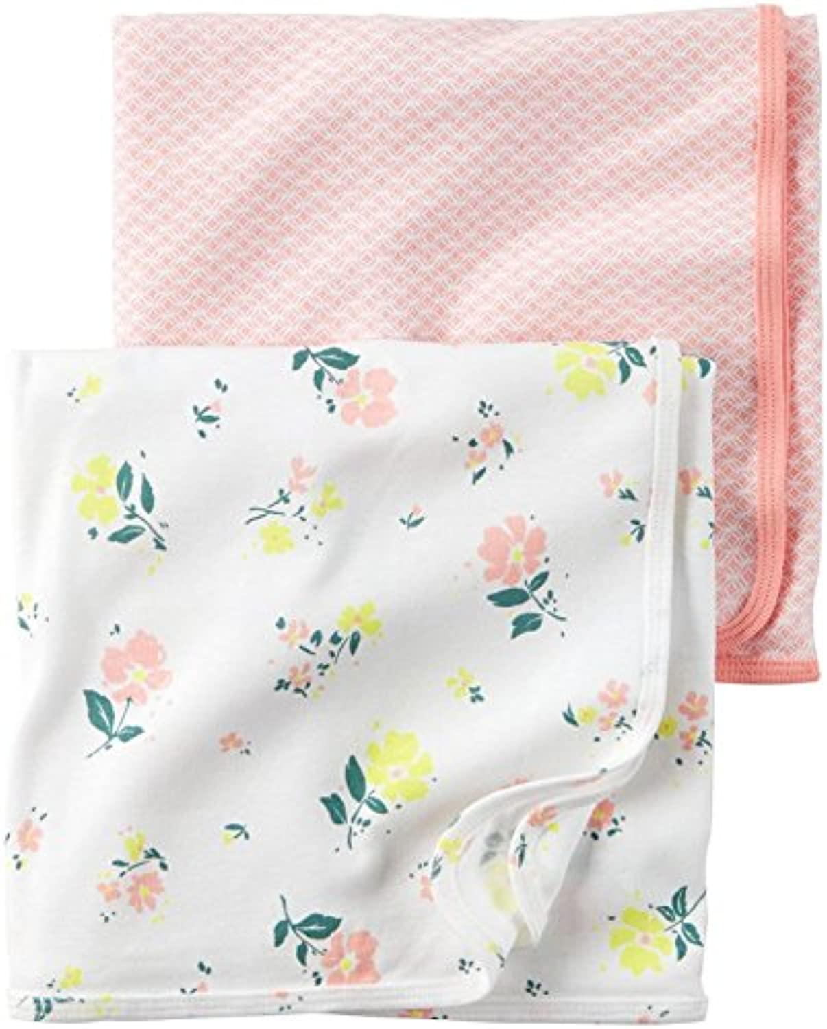 Carter's Baby Girl Swaddle Blankets - 2 pk - Floral/Pink - Newborn-24 Months by Carter's