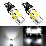 DunGu T20 led ダブル バックランプ テールライト 電球 ピンチ部違い 車検対応 ブレーキランプ ホワイト 純白色(二個入り)