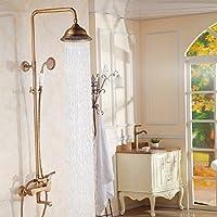 wAWzjバスルームシャワーセットEuropean archaizeスプリンクラ真鍮シャワーシャワーシャワーとシャワーシャワー
