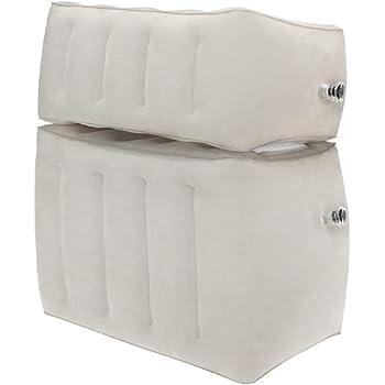 BAGERLY フットレスト 足枕1個3役 高さ・硬さ調整可能 足の疲れ むくみ対策 夜行バス/飛行機/家用 携帯式 収納袋付き