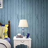 壁紙 アンティーク 地中海風 不織布 フリース ノスタルジックな寝室のリビングルームテレビの壁の壁のストライプ DIY 模様替え リフォーム 高品質な不織布素材 53cm*10M (北欧風青)