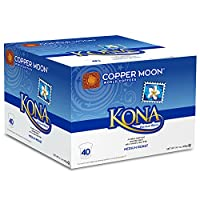 Copper Moon Kona Blend Coffee, Single Cups for Keurig K-Cup Brewers, 40 Count
