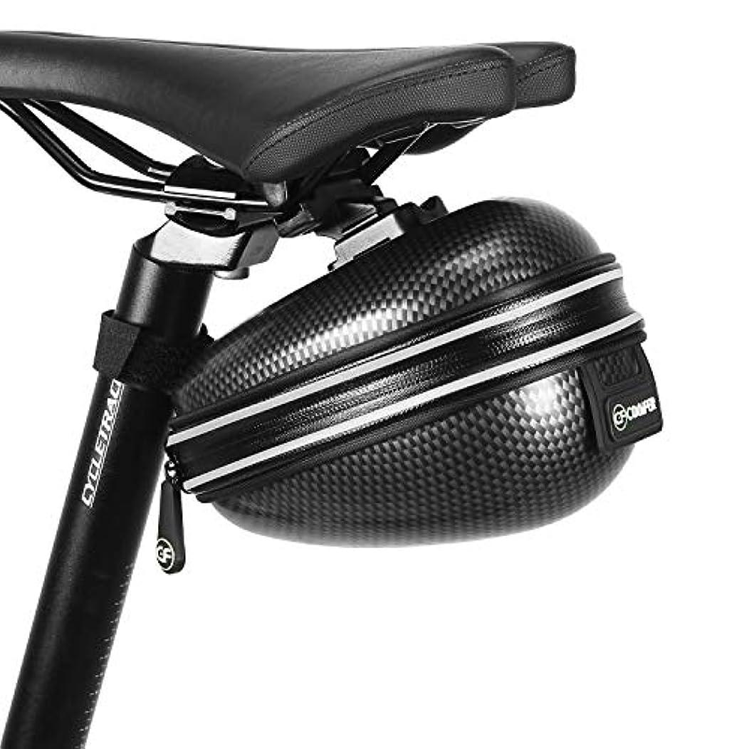 然とした演じる香りCONIFER サドルバッグ ロードバイク 自転車 大容量 約2.5L 防水仕様 軽量 反射プリント付 アタッチメント式 クロスバイク マウンテンバイク ブラック