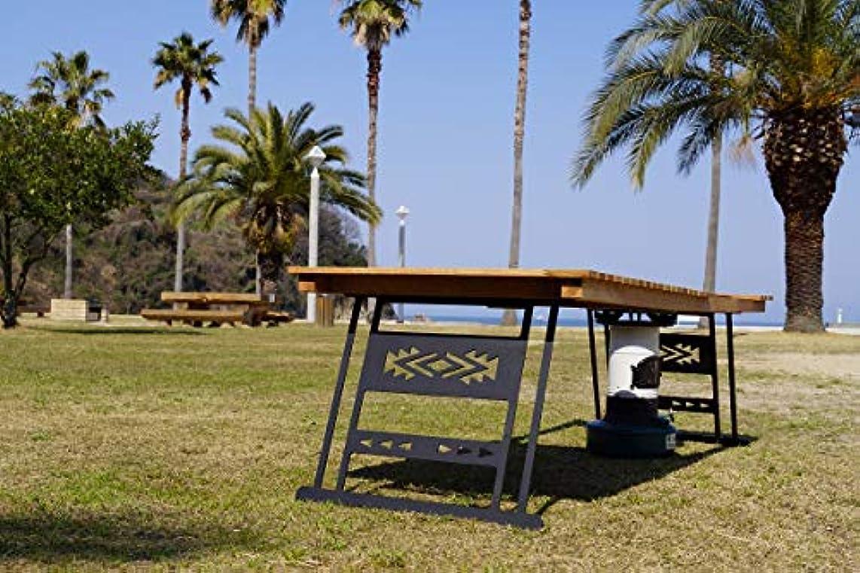 失業者賞賛する工業化するOak standard folding table Stove hole(ストーブ穴有り) CAMPOOPARTS オーク スタンダード 折り畳みテーブル W1200