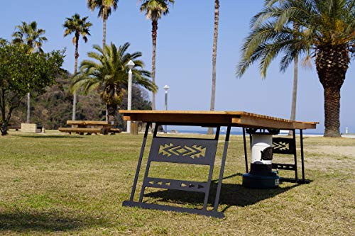 Oak standard folding table Stove hole(ストーブ穴有り) CAMPOOPARTS オーク スタンダード 折り畳みテーブル W1200