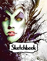 """Sketchbook: Maleficent Adventure Powerful Fairy Magical Forest American Dark Fantasy Kingdom,  Blank Paper Drawing and Write Journal, Large Notebook For Drawing, Doodling or Sketching: 109 Pages, 8.5"""" x 11"""". Kraft Cover Sketchbook"""