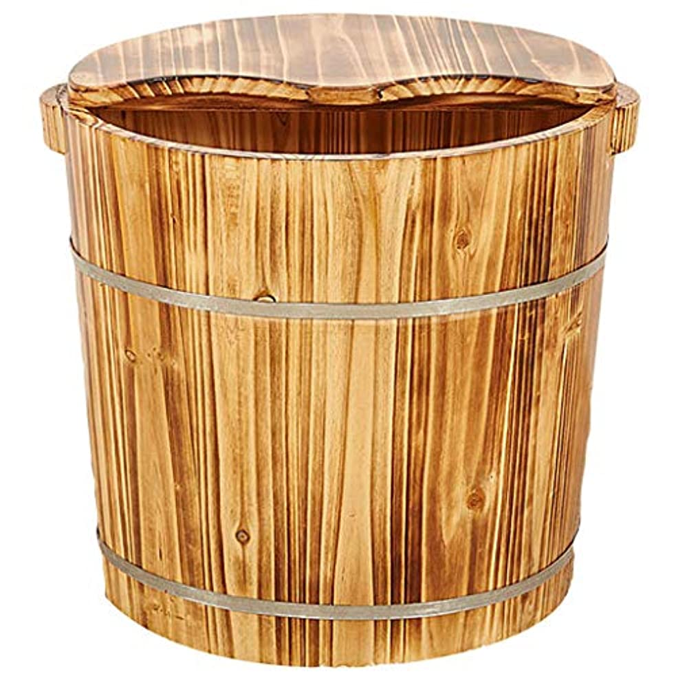 太平洋諸島失業田舎森の中で足洗浄足浴木材マッサージ足湯ペディキュアバレル高い深さは、蓋予算でビーチ足浴槽が水没します