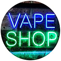 Vape Shop Indoor Display Dual LED看板 ネオンプレート サイン 標識 Green & Blue 400 x 300 mm st6s43-i3018-gb