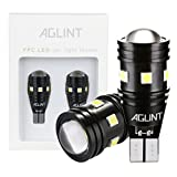 AGLINT T15 T16 LED バックランプ 爆光 400LM高輝度 無極性12V/24V兼用 キャンセラー内蔵 CANBUS 9連3030SMD W16W 921 912 LED バックアップ 6000K ホワイト車検対応 1年保証 2個入り
