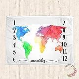 Baby Milestone Blanket Newborn Photography Blanket Photography Props Baby Milestone Blanket 30x40inch
