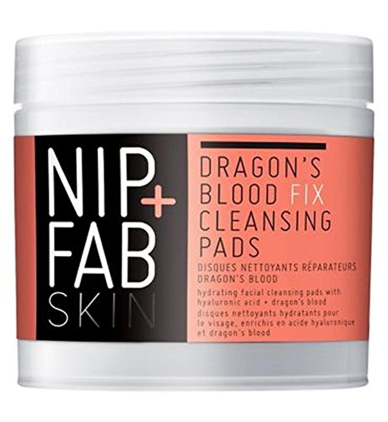 折彼女は収まる+ファブ竜の血修正パッド80ミリリットルニップ (Nip & Fab) (x2) - Nip+Fab Dragons Blood Fix Pads 80ml (Pack of 2) [並行輸入品]