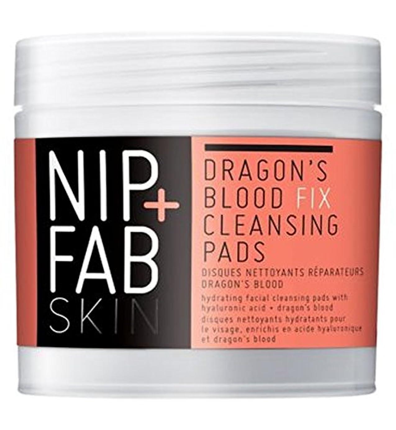 卒業気分が悪いのぞき穴+ファブ竜の血修正パッド80ミリリットルニップ (Nip & Fab) (x2) - Nip+Fab Dragons Blood Fix Pads 80ml (Pack of 2) [並行輸入品]
