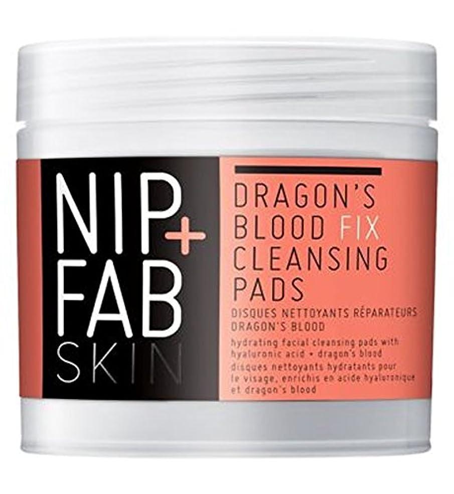元気検出麦芽+ファブ竜の血修正パッド80ミリリットルニップ (Nip & Fab) (x2) - Nip+Fab Dragons Blood Fix Pads 80ml (Pack of 2) [並行輸入品]