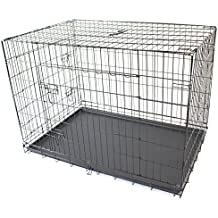 """42"""" XL Extra Large Pet Dog Crate Metal Folding Cage Portable Kennel House Training Puppy Kitten Cat Rabbit"""