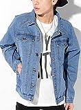ブルー L (ベストマート)BestMart ヴィンテージ加工 デニムジャケット ゆったり Gジャン おしゃれ メンズ デニムGジャン デニムジージャン デニム ジャケット ジージャン ブルゾン ウォッシュ ビック シルエット ビッグ ビッグシルエット 上着 長袖 無地 大きいサイズ 621975-006-617